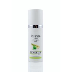 Hand & Body Cream met de verfrissende geur van citroengras en munt.50 ml